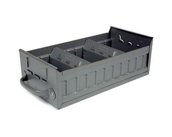 Industrial Drawer, Metal Drawer, Parts Bin, Supply Bin, Craft Storage, Divided Bin,  Vintage Storage Organization Industrial Decor
