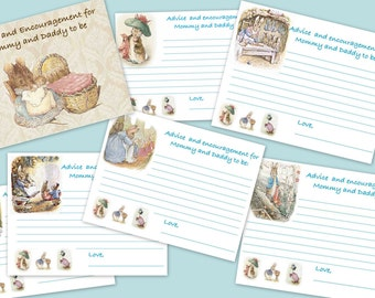 Peter Rabbit Baby Shower Advice for Mommy and Daddy (Beatrix Potter)