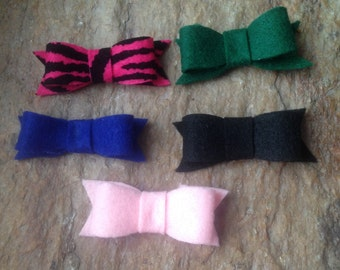 One felt bow - clip or headband