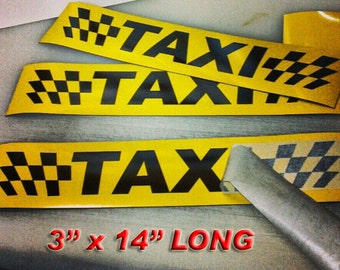 Magnetic Taxi sign you get 4 Fits any vehicle. Car service vinyl signs Yellow & Black