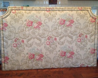 Fabric Headboard With Nailhead Trim