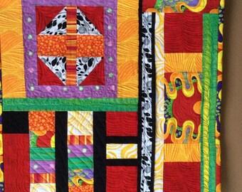 Fiber Art, Wall Hanging, Contemporary Art Quilt, fiber art, wall hanging, home decor, abstract art quilt, wall art quilt, contempory art