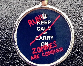 Zombie pendant Zombie necklace Zombie's are coming necklace pendant Zombie Apocalypse necklace Zombie Apocalypse necklace