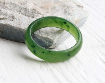 Canadian Nephrite Jade Narrow Band Ring, 5mm