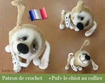 022F Puf the little puppy! Amigurumi crochet pattern. PDF file. By Pertseva Etsy