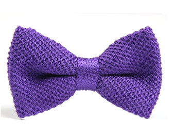 Violet Knitted Bowtie,Bowtie for Wedding,Party.Gifts.Mens Bowties.