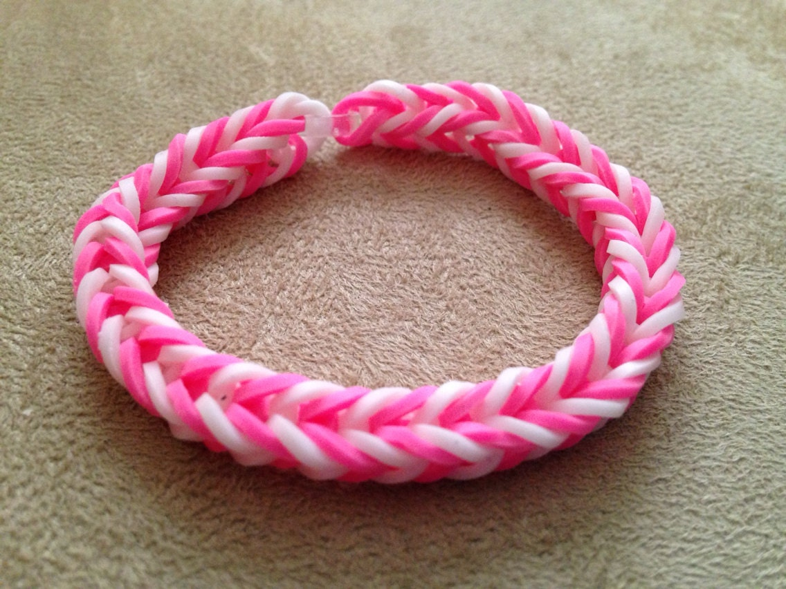 loom bracelet fishtail loom bracelet pink and by