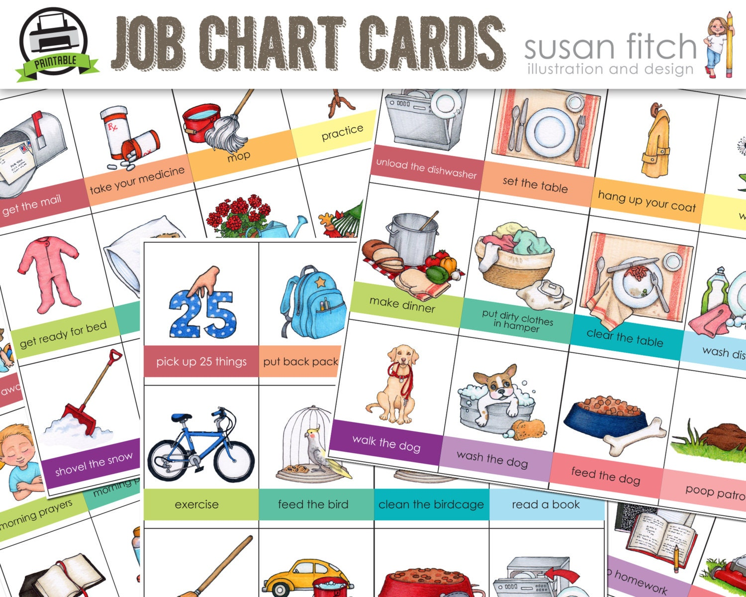 Sizzling image in printable job chart