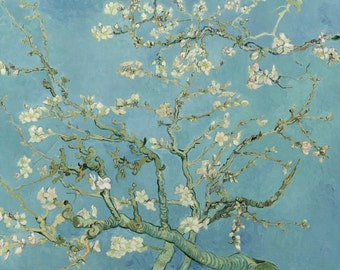 Branches With Almond Blossoms by Vincent Van Gogh, in various sizes, Giclee Canvas Print