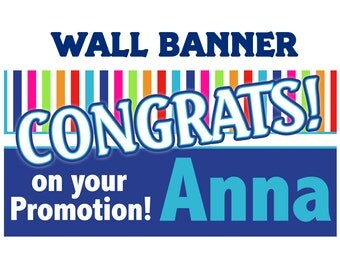 Congrats Banner ~ Personalized Party Banners, Congratulations Banner, Custom Banner, Vinyl Banners