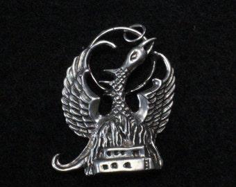 Phoenix Sterling Silver Pendant