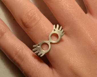 Ring Sterling Silver 925 Luna Lovegood Adjustable Ring Gift under 28 Geek Jewelry Fashion Birthday Gift Idea