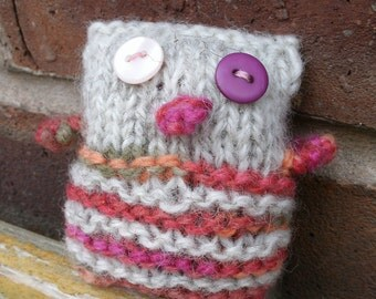 Adorable Stuffed Hand Knit Owl