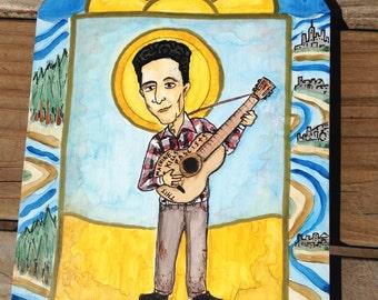 Retablo of Woody Guthrie ***SOLD***