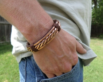 Items Similar To Mens Iron And Copper Bracelet On Etsy