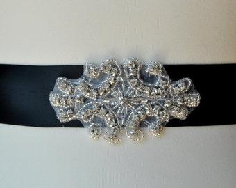 Rhinestone Sash, Bridal Sash,Wedding Dress Sash Belt, Rhinestone Bridal Bridesmaid Sash Belt, Wedding dress sash