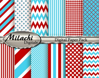 Dr. Seuss Digital Paper Pack - Commercial Use - Instant Download - M23