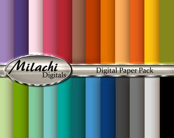 Solid Digital Paper Pack - Commercial Use - Instant Download - M173
