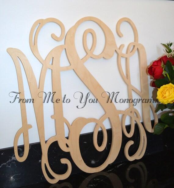 Wooden Monogram Monogram Wall Hanging Wedding Monogram