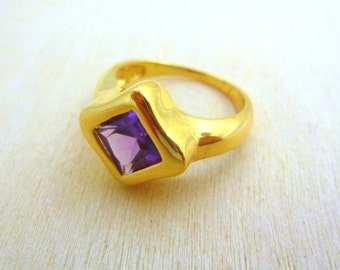 Amethyst ring -14K GOLD Filled Ring, gold jewelry, best gifts for women gemstone ring