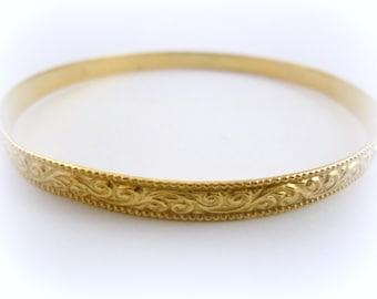 Gold Bracelet-gold fill 14k filigree bracelet, hand made jewelry