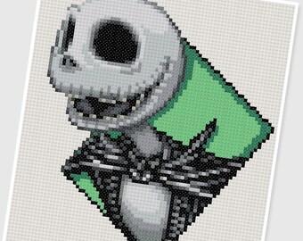 PDF Cross Stitch pattern - 0244.Jack Skellington ( Nightmare Before Christmas ) - INSTANT DOWNLOAD
