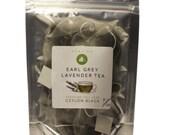 Earl Grey Lavender Tea, English Breakfast 100% Natural  full Leaf Ceylon Premium black tea,  Luxury Infusion pyramid bags, Pure Ceylon Tea