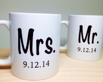Etiquette For Wedding Gifts And Bridal Shower Gifts : ... gift mr and mrs coffee mug unique bridal shower gift wedding gift idea