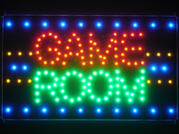 Man Cave Neon Lights : Led game room man cave neon light sign free by