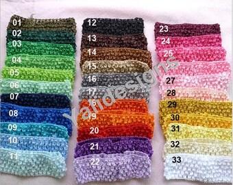 U Pick Wholesales 1.5'' knitting headband Cute Crochet Headbands Elastic Headband Baby Girl Accessories Baby Toddle YTA14