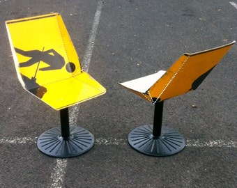 Repurposed Furniture Curated By Recyclart On Etsy - Road sign furniture