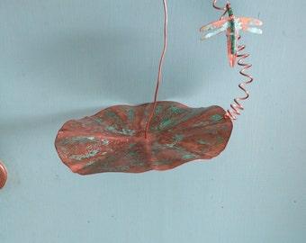 Garden art Dragonfly hanger.