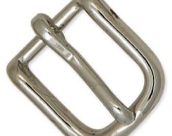 "Strap Buckle 5/8"" Solid Brass/Nickel Plate 11552-03"