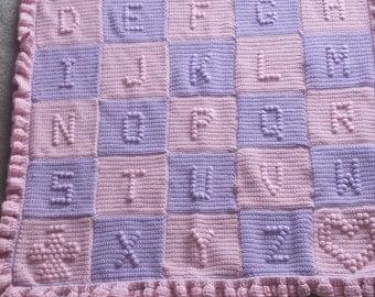crochet baby abc blanket