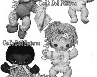 Pattern for 4 Little Huggy Babies