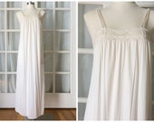 70s Miss Elaine cream lace nightgown