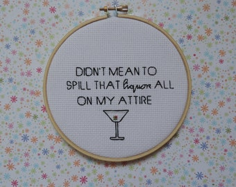 Beyonce - Drunk In Love - Liquor - Cross Stitch