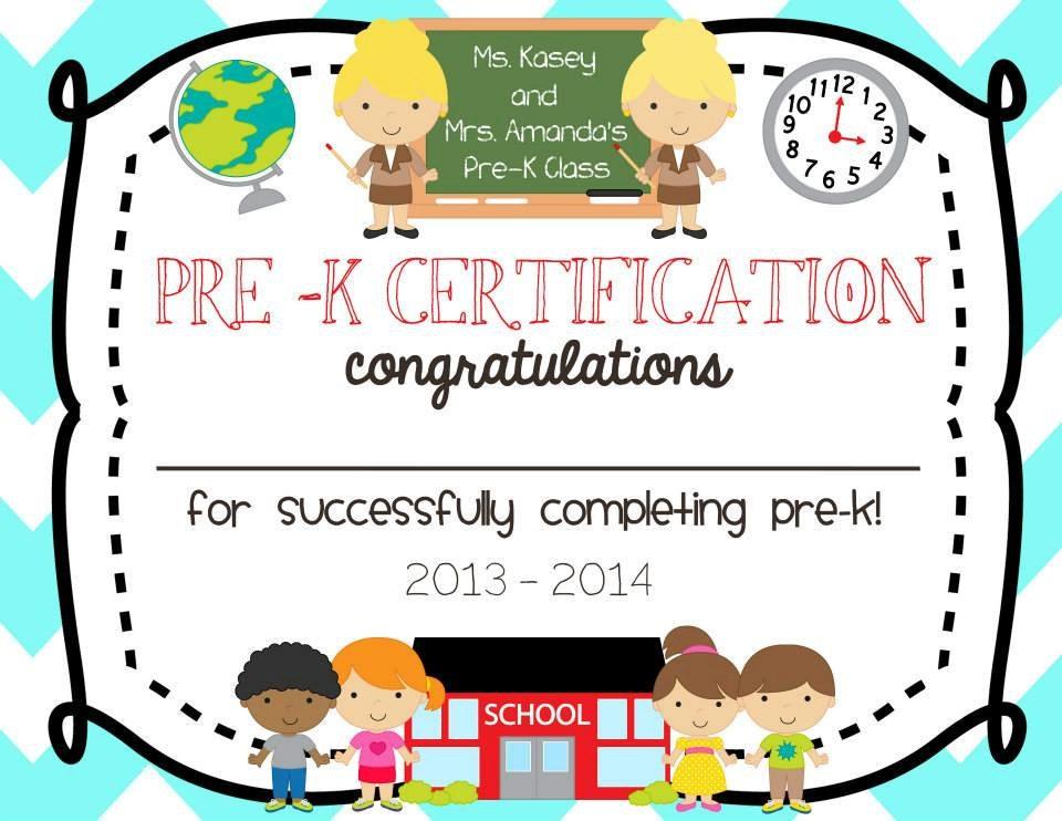 pre school kindergarten graduation diploma certificate