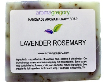 Lavender Rosemary handmade soap - real essential oil natural soap