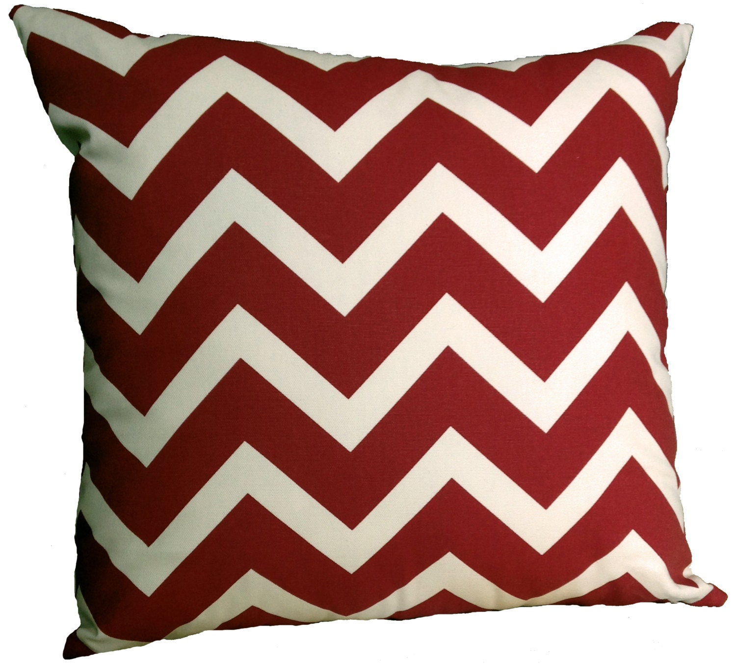 Throw Pillow Inserts 18 X 18 : Handmade 18 x 18 Decorative Pillow Insert Included. Brick Red