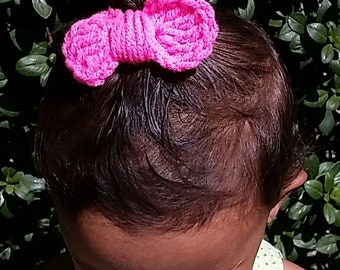 Rounded Crochet Hair Bow