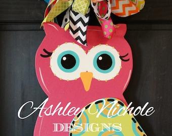 Profile Owl Door Hanger, Door Decoration