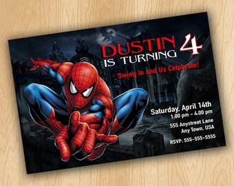 The Amazing Spiderman Birthday Invitation