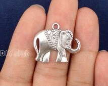 20pcs of Antique Tibetan silver Elephant Charms pendant   25x21mm