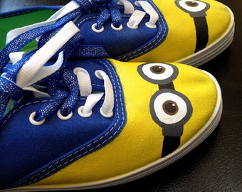 Made to order custom-painted Minion shoes