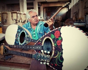 Bouzouki | Hand painted Unique Greek-Turkish Traditional String Instrument