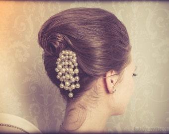 Wedding - bridal hair accessory - vintage