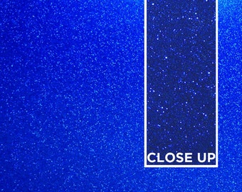 Deep Blue Sparkle Glitter Acrylic Sheet 300mm x 300mm • Laser Cutting • Supply