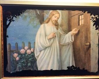 Vintage Jesus Lithograph Calendar Advertising