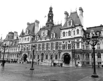 Architecture in Paris, France, Black and White, Travel Photography
